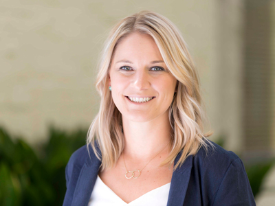 Headshot of Lindsey Holts of the Sports Product Management online master's degree program
