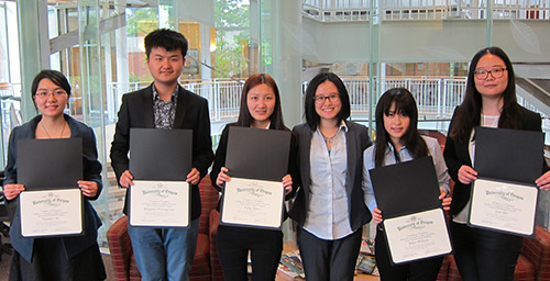 International students with career planning certificates