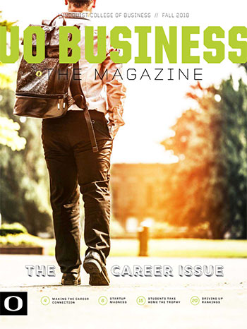 The cover of the Fall 2018 edition of UO Business The Magazine