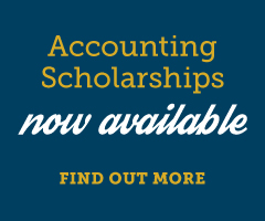Accounting Scholarships Now Available. Find Out More.