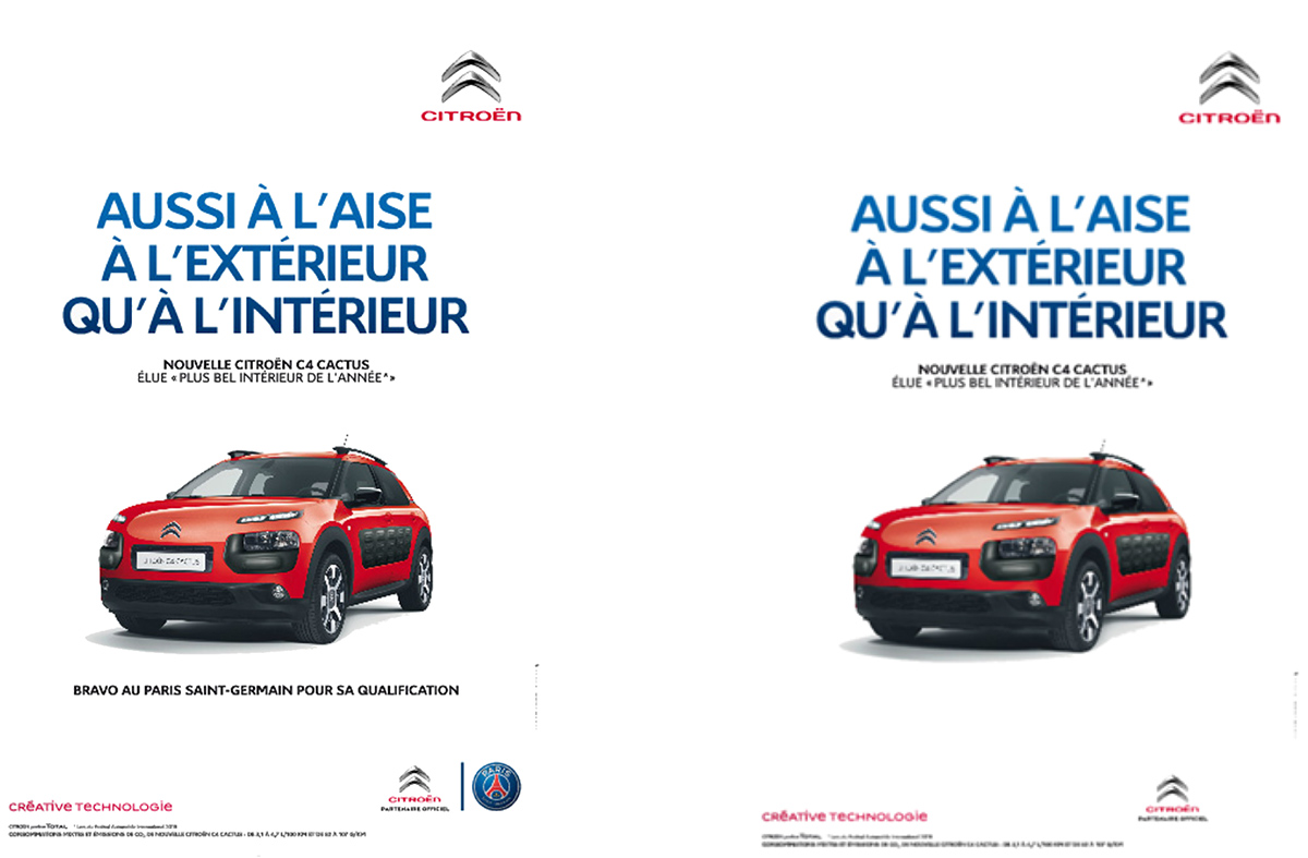 Citroen ad used for sports sponsorship research