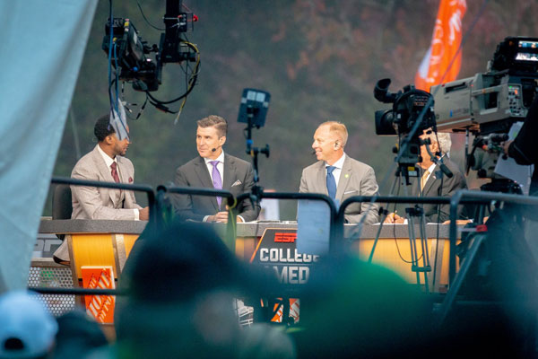 GameDay hosts during broadcast