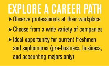 Illustration of undergraduate job shadow program benefits