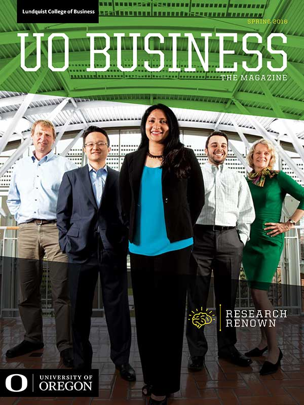 Cover of UO Business Magazine