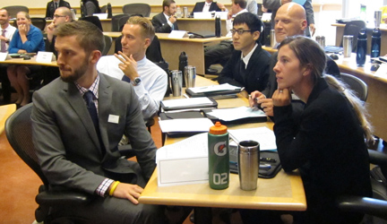 Oregon MBA students engaged in class