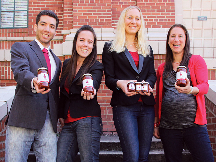 Photo of Red Duck Ketchup LCE Startup Team with LCE 25th anniversary logo
