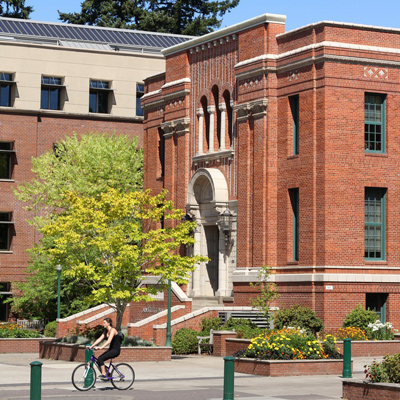 Exterior of Anstett Hall from the UO Memorial Quad