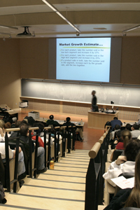 Lecture Hall in the Lillis Business Complex