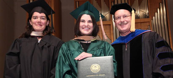 MBA student receives her diploma in 2013
