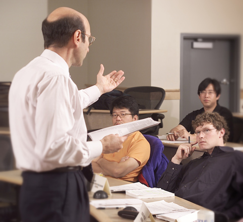 Professor Mike Russo teaching