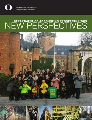 Cover of 2013 Prospectus from the Department of Accounting