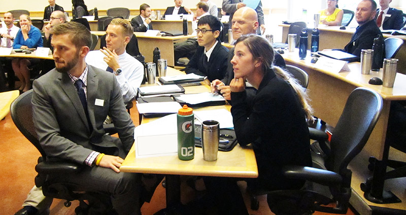 MBA students attend orientation