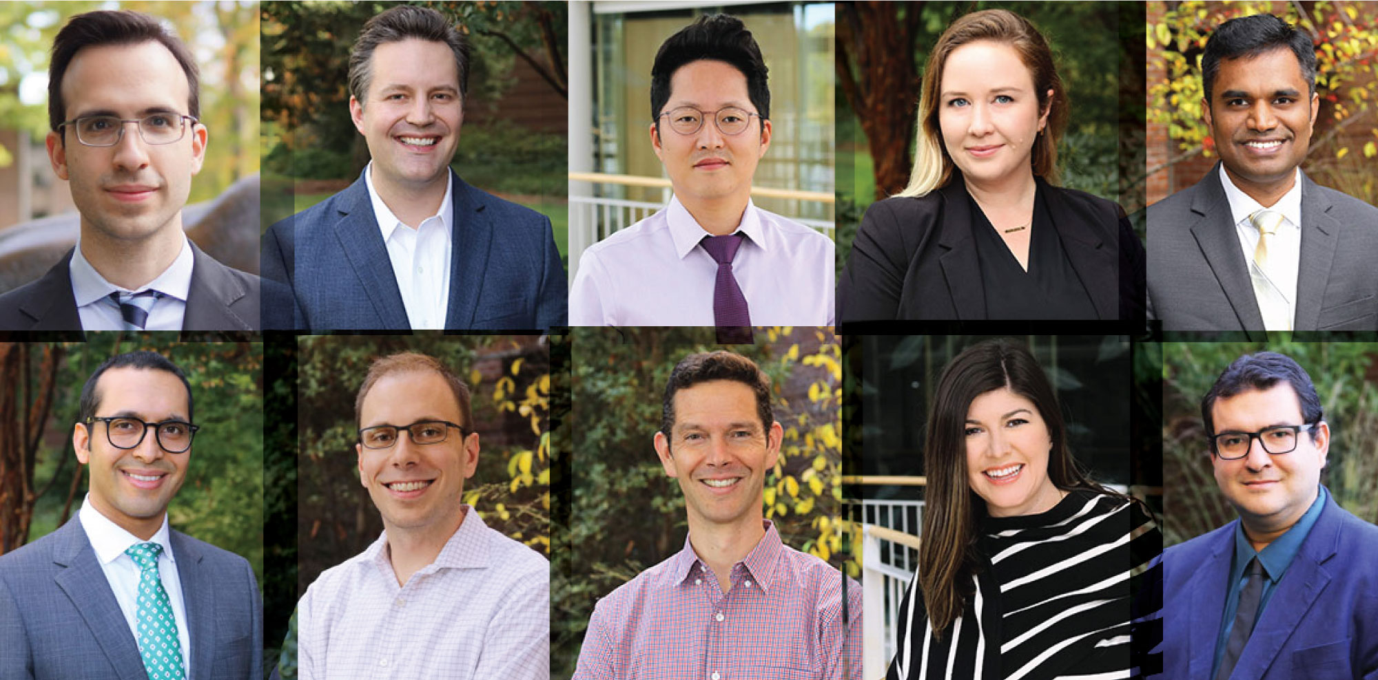 Collage of new Lundquist College faculty