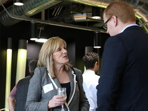 More than 100 alumni joined us on April 14 for an open house and tour of our new space.