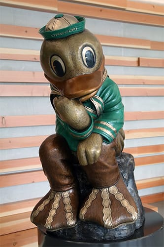 Thinker Duck statue in Oregon Executive MBA Portland facility