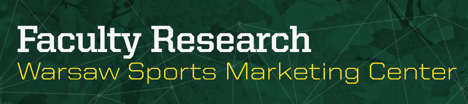 Warsaw Sports Marketing Center Faculty Research