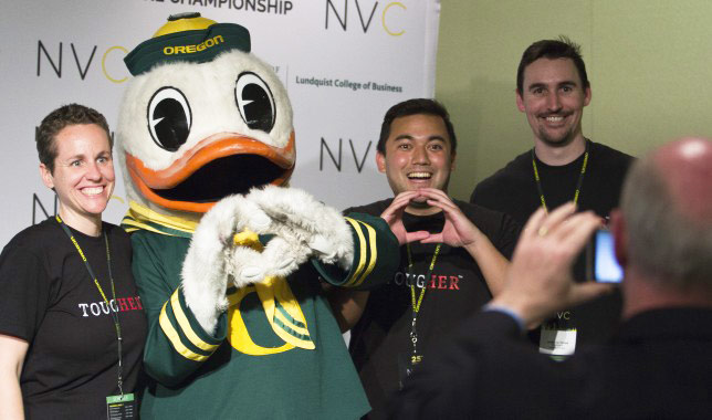 An NVC team poses with the Duck