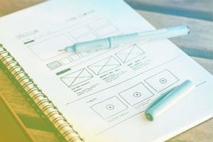 Image of website layout sketch