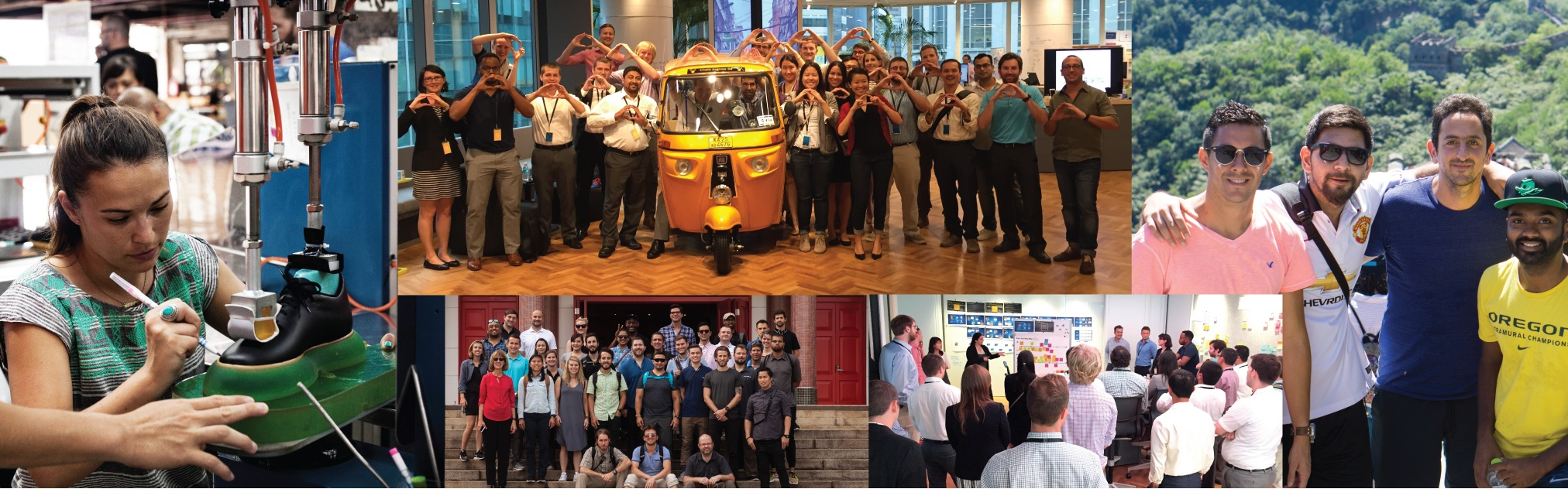 A collage of images from the 2016 Engaging Asia study tour