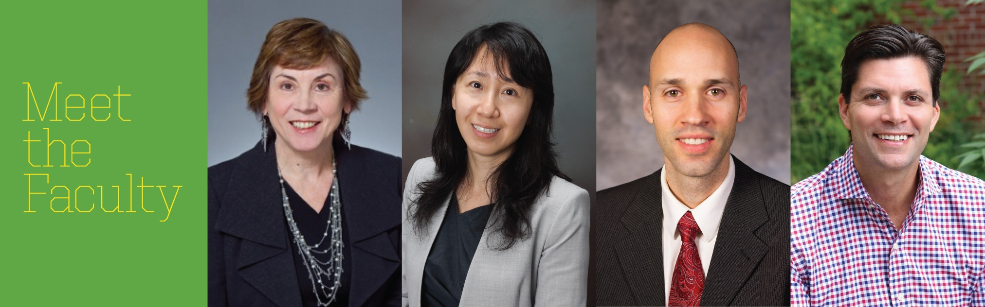 Image collage of four new Lundquist College faculty members