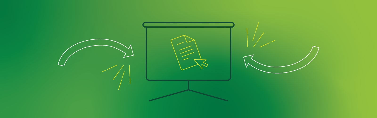 Lineart graphic design against a green background
