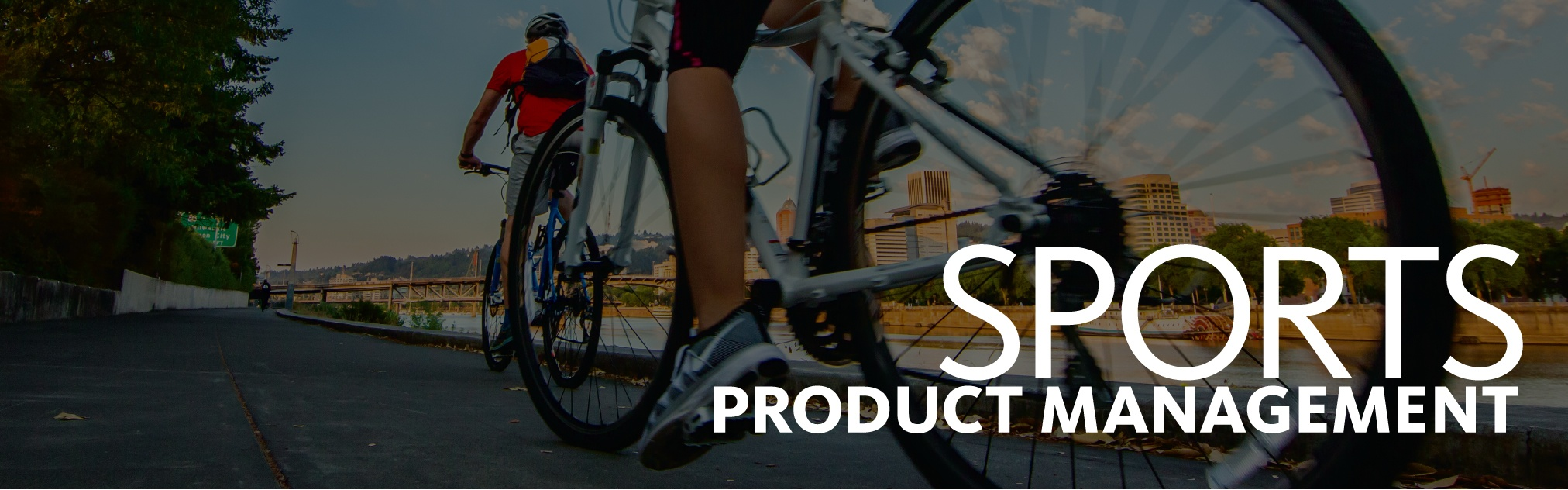 Sports Product Management Image with Bikers in Porltand