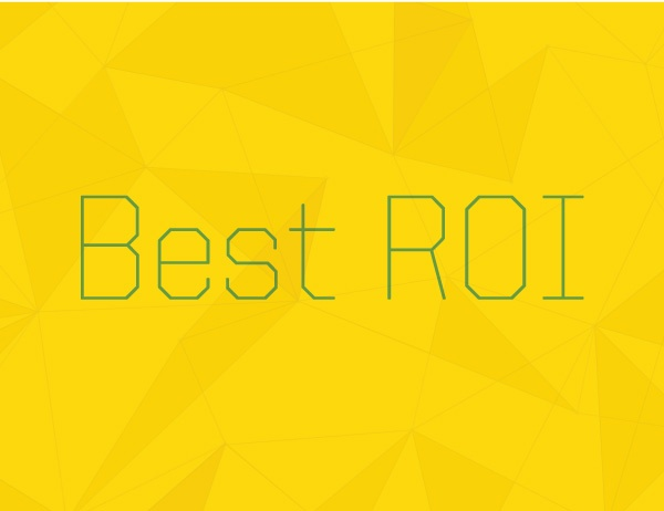 """Artwork with words """"Best ROI"""" representing MBA rankings"""