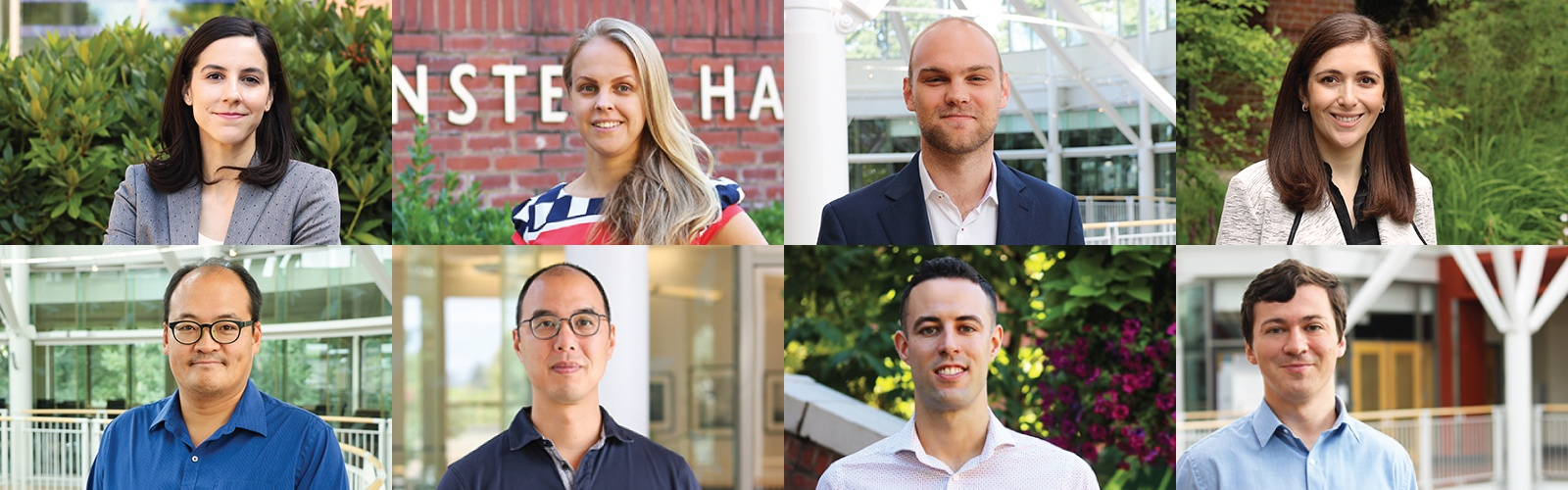 A grid of new faculty members' profile photos