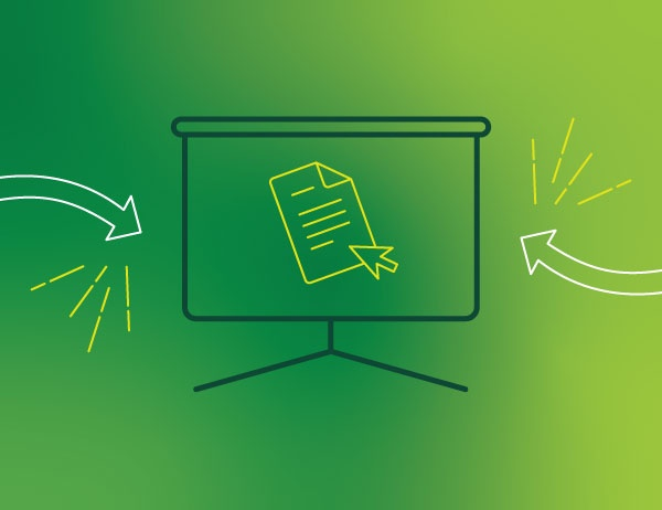 Lineart icon graphic design against a green background
