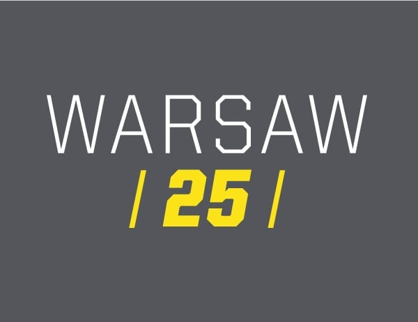 Warsaw Center 25th Anniversary Logo