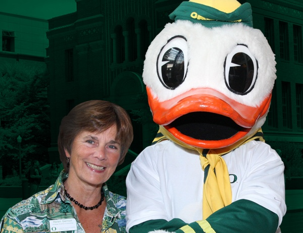 Helen Gernon with the Duck