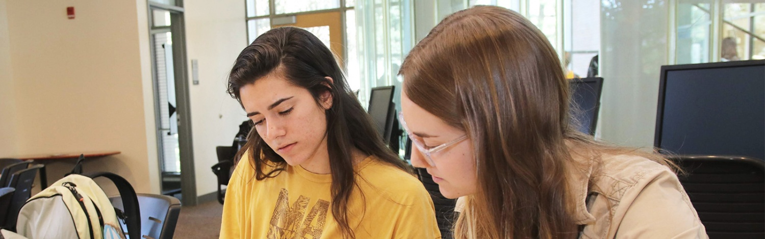 Students help each other during a tutoring session