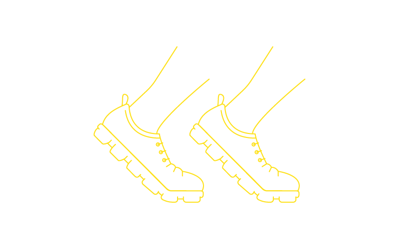 Icon of running shoes to illustrate the sports business specialization