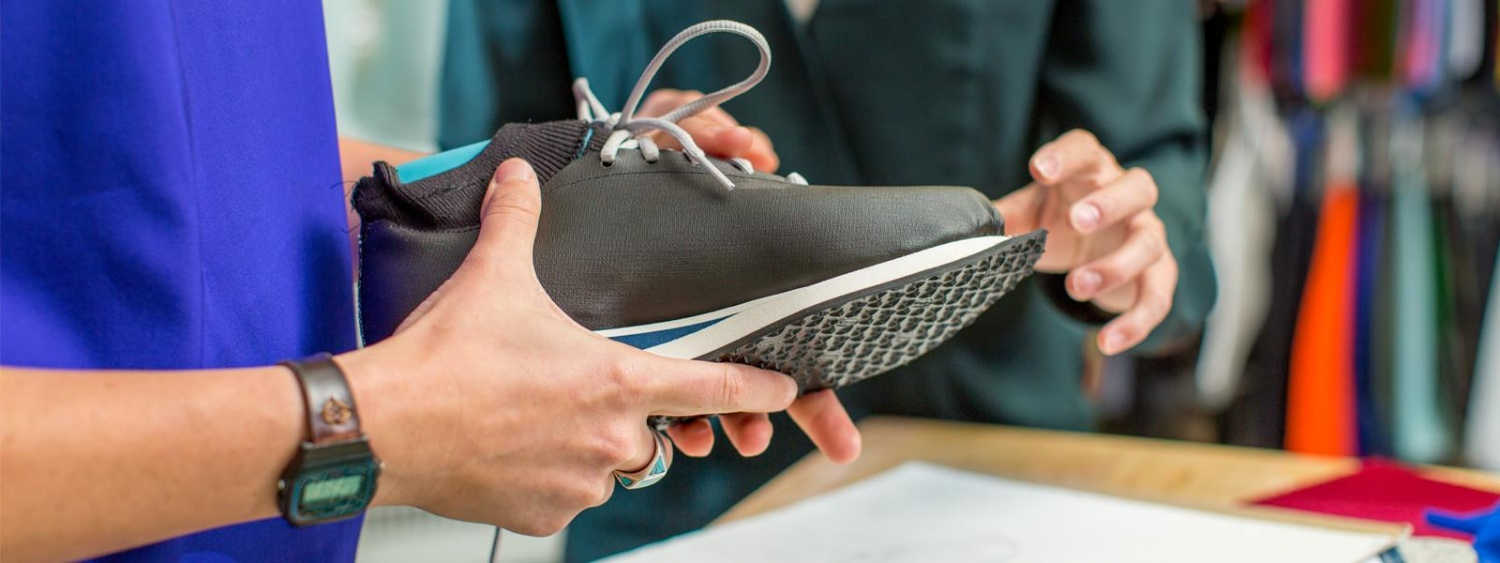 Close-up on shoe made during an SPM shoemaking workshop