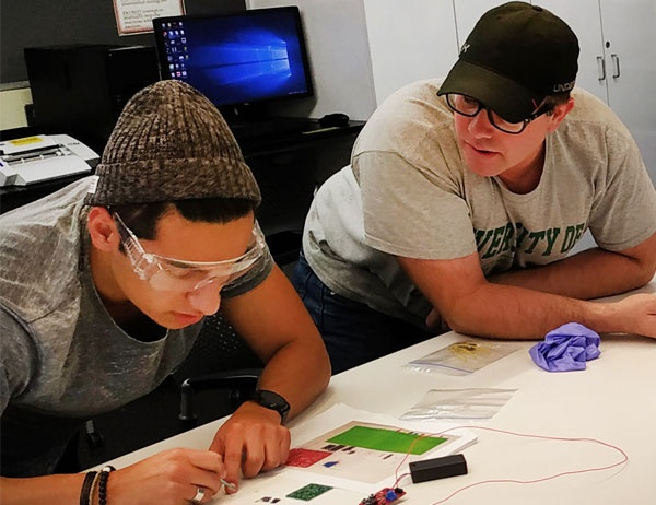 Students create radios during a workshop