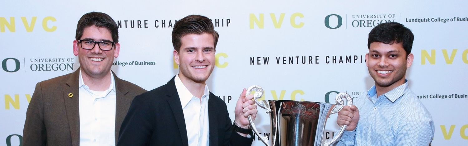 The winning NVC team poses with Nathan Lillegard and their trophy
