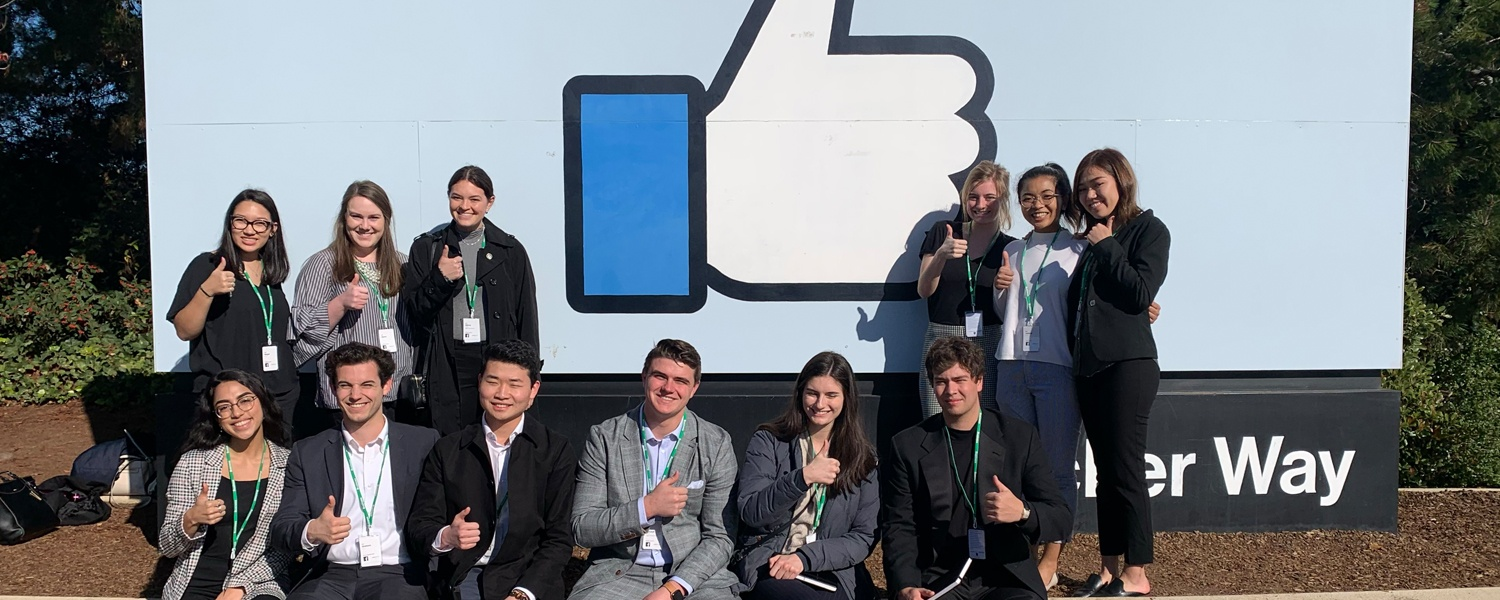 OCG members pose for a photo outside Facebook headquarters
