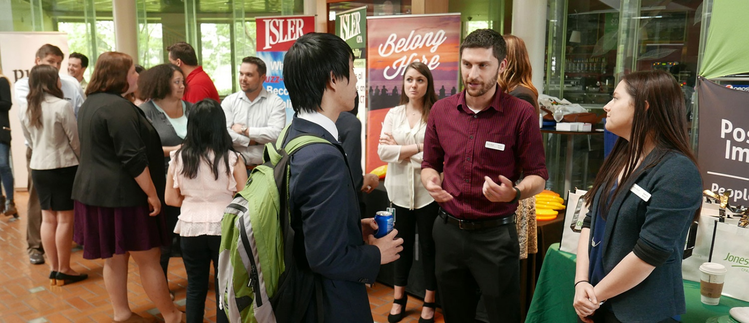 Accounting students speak to employers