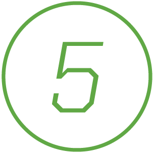 Icon of number 5