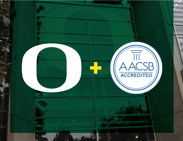 University of Oregon and AACSB logo