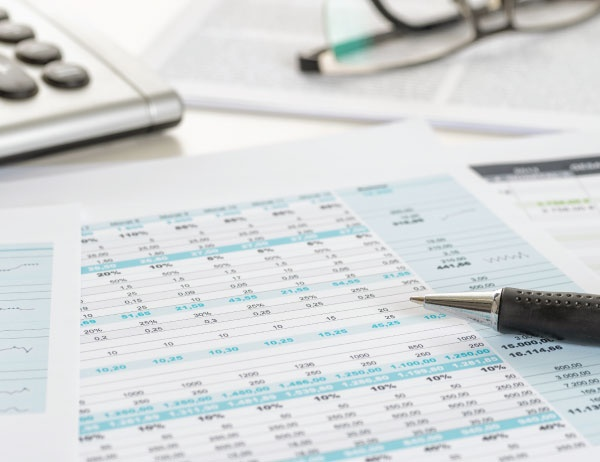 Close up photo of tax documents on a desk