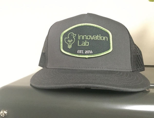 Photo of a UO Innovation Lab hat