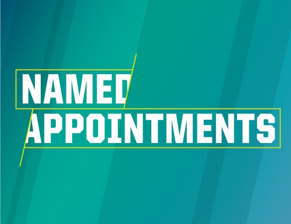 Named Appointments in white text against a blue background