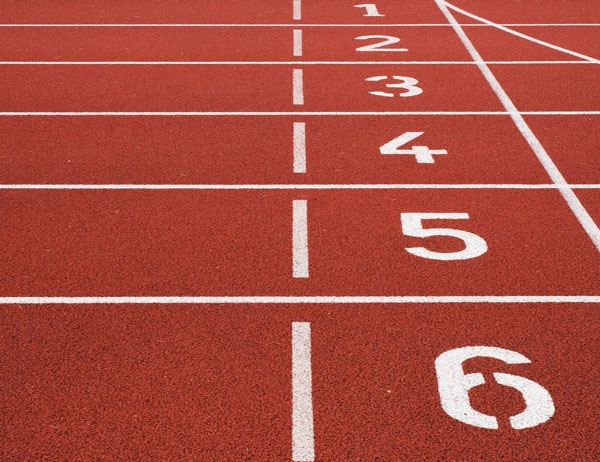Photo of a track starting line