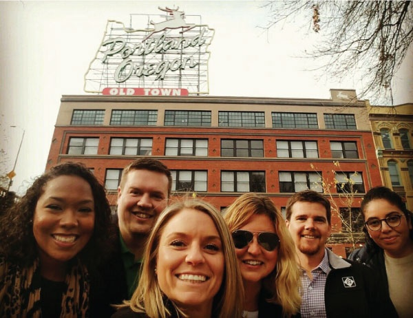 Photo of Warsaw Students visiting companies in Portland
