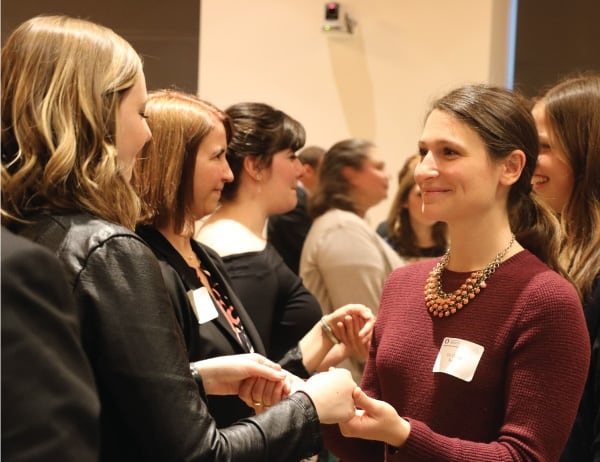 Students, faculty, and donors network during the 2018 Women in Business gala