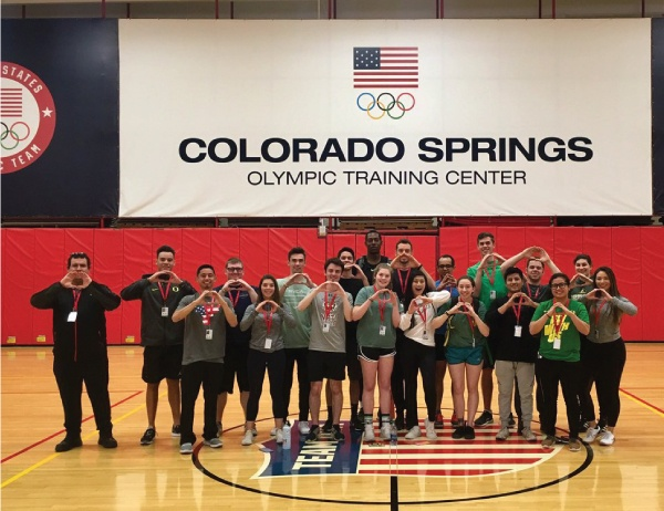 Warsaw Center students at U.S. Olympic headquarters in Colorado