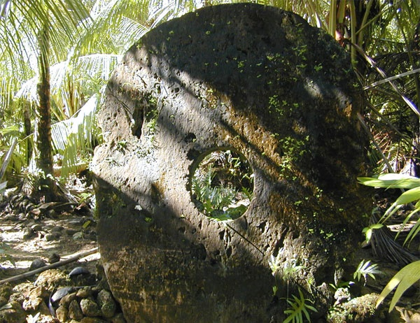 Yap rai, an ancient currency in the form of a stone disc