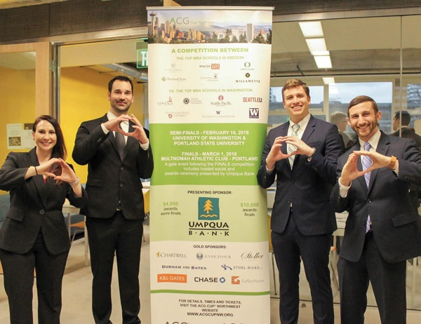 Oregon MBA students throw their O at the ACG Cup competition