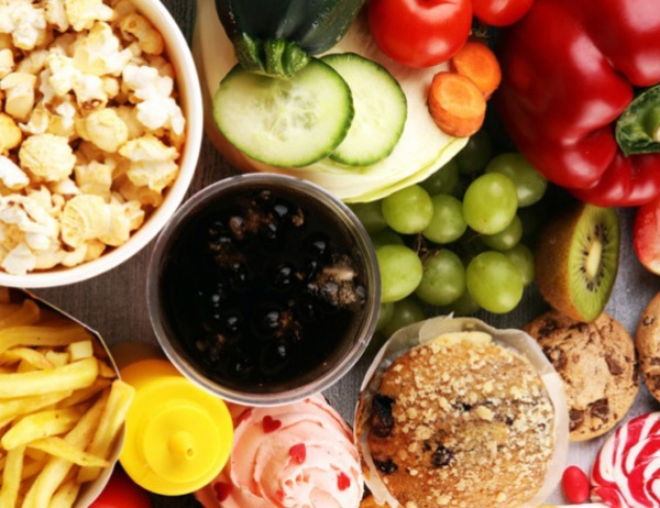 Fruits, vegetables, and other snacks